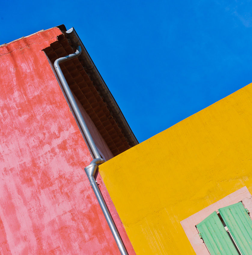 Colorful houses in southern France